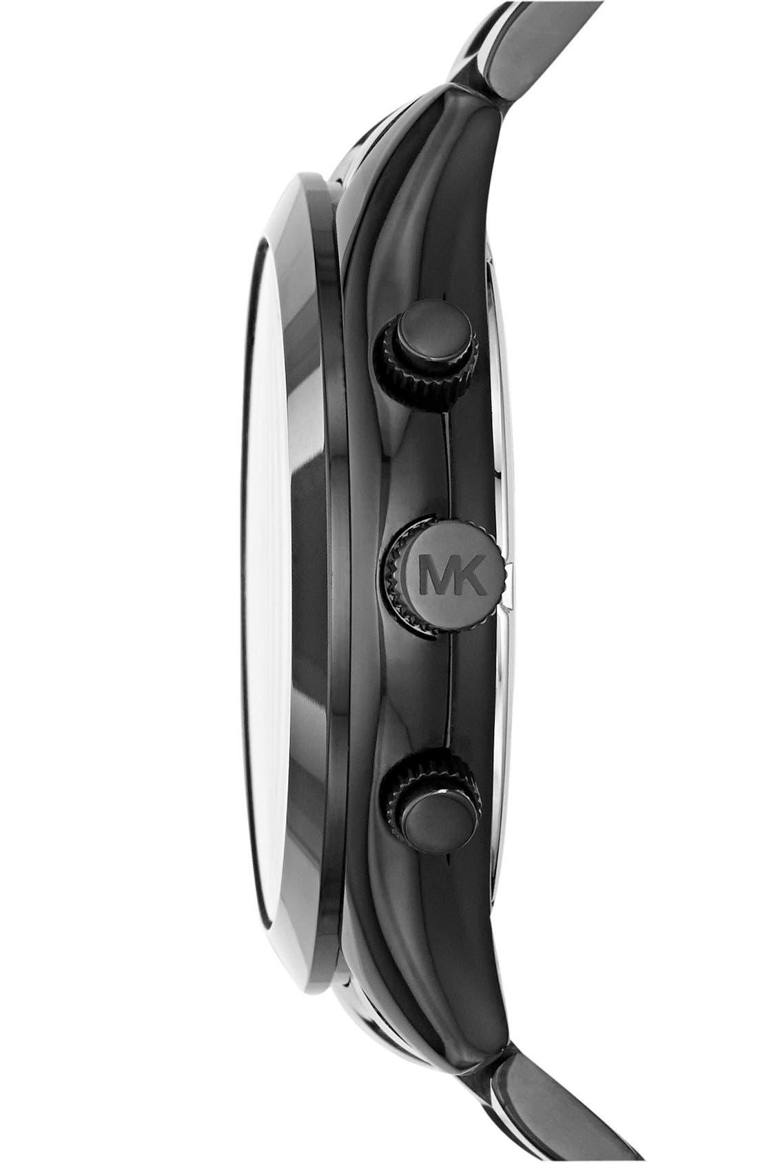 ,                             Michael Kors 'Slim Runway' Chronograph Bracelet Watch, 42mm,                             Alternate thumbnail 2, color,                             001