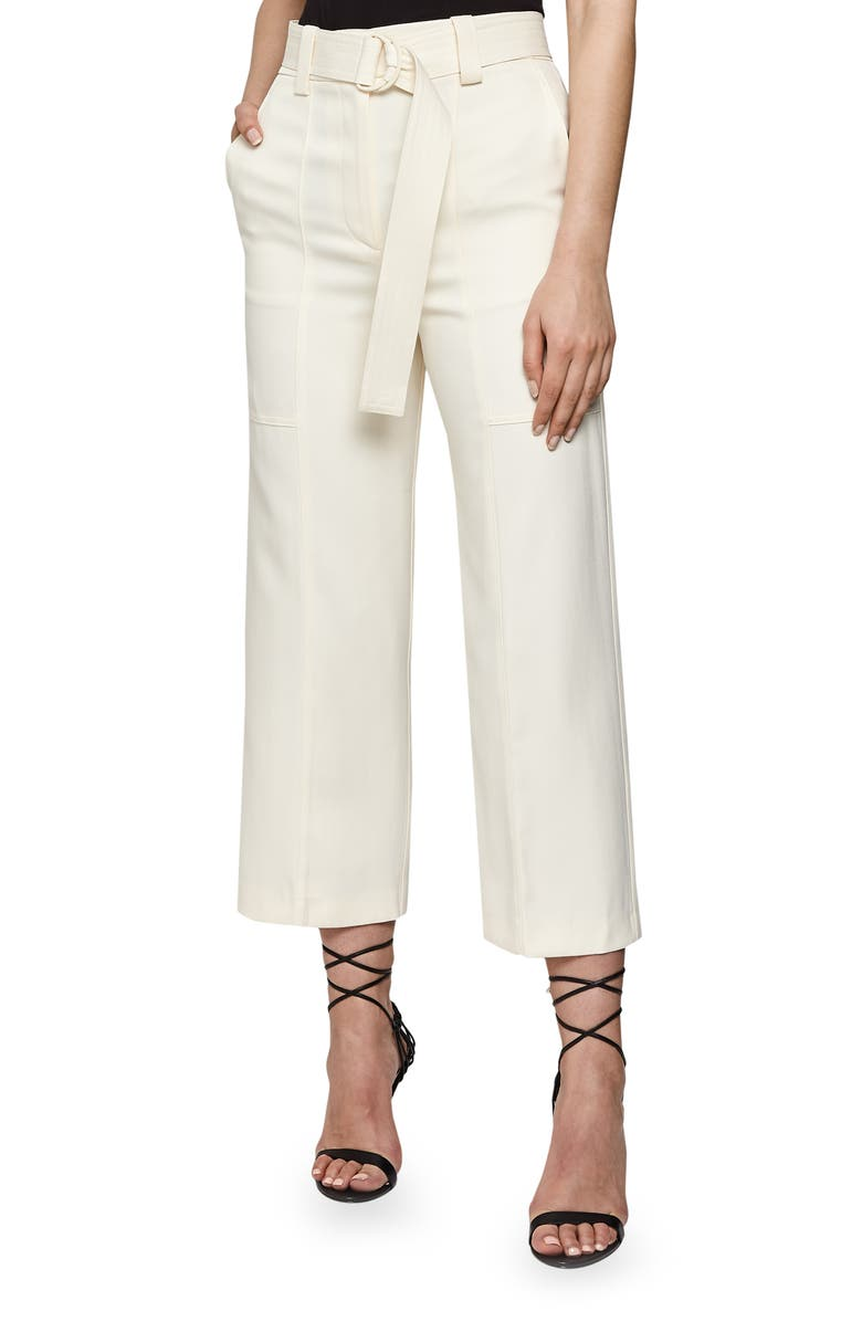 REISS Emily Crop Trousers, Main, color, 102