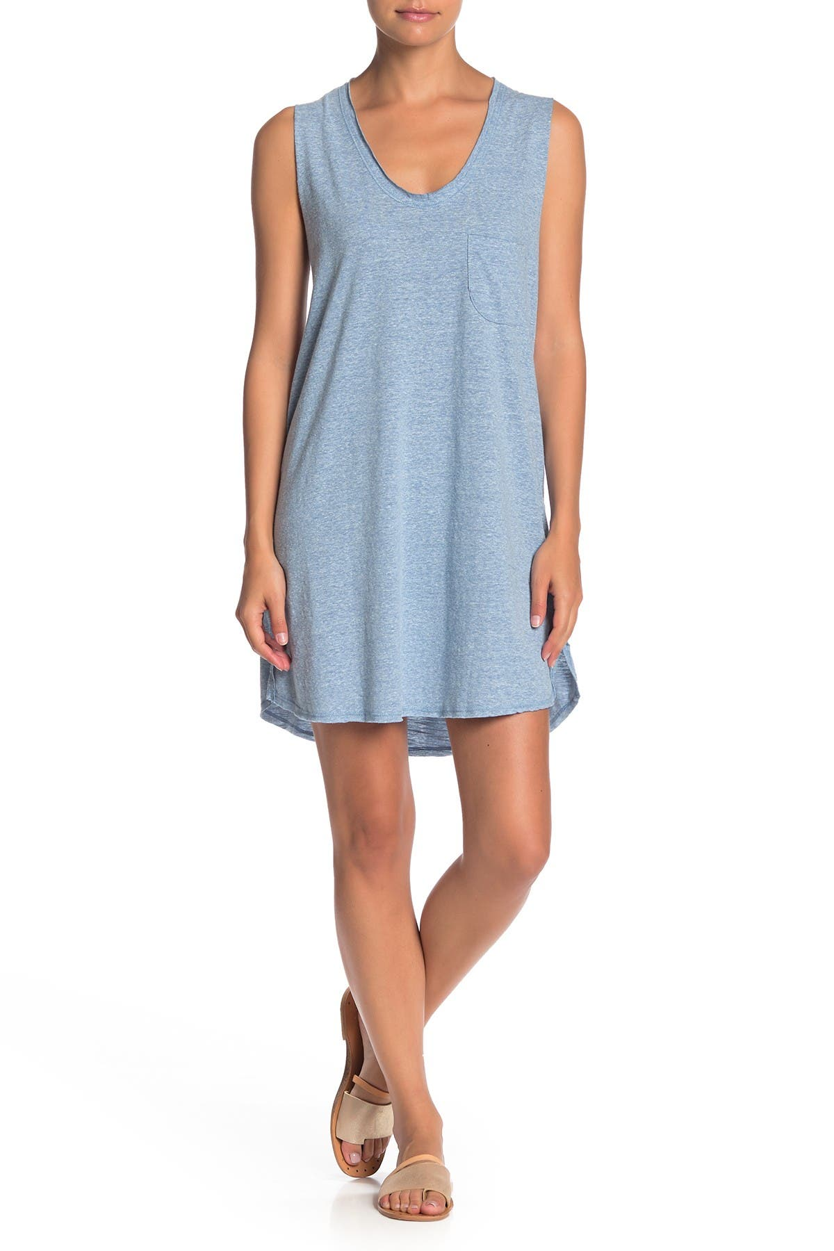 Image of PST by Project Social T Exposed Seam Tank Dress
