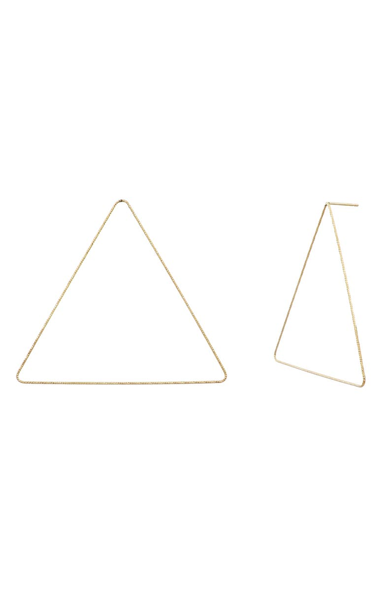 BONY LEVY 14K Gold Large Triangle Earrings, Main, color, YELLOW GOLD