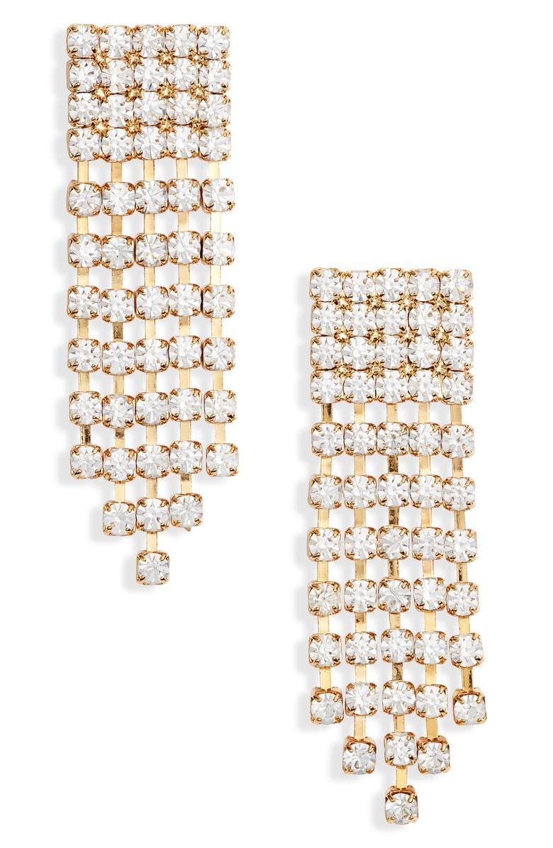 TEN79LA Stone Drop Earrings, Main, color, GOLD