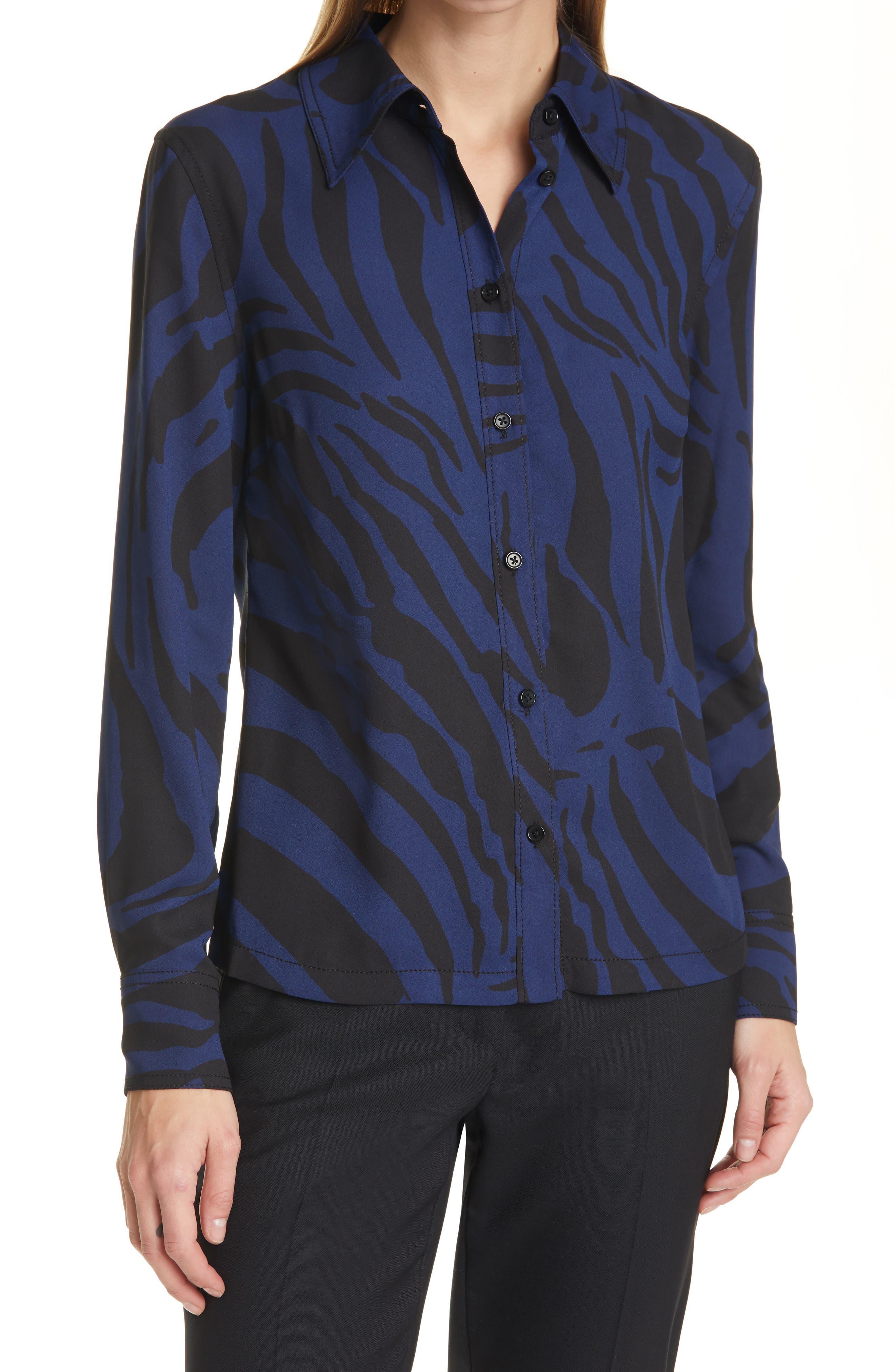 Samson Zebra Print Button-Up Shirt