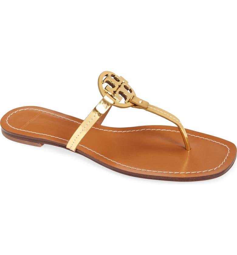 TORY BURCH Mini Miller Flip Flop, Main, color, GOLD