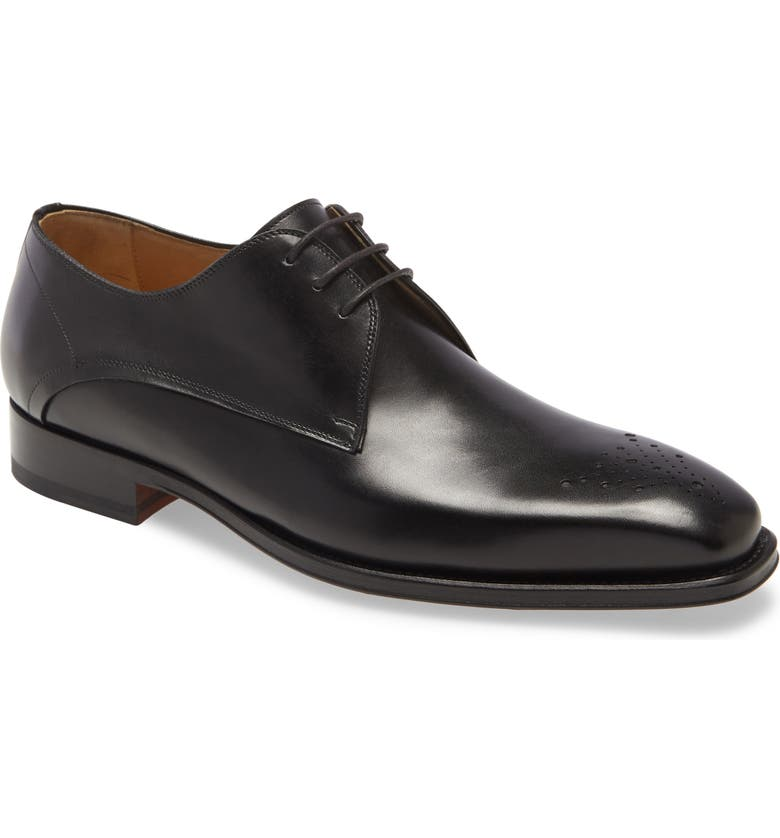 MAGNANNI Merrion Medallion Toe Derby, Main, color, 001