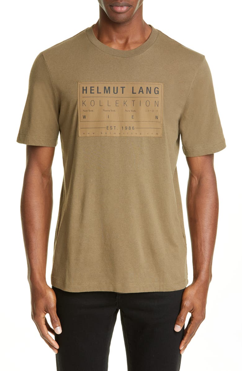 HELMUT LANG Logo Patch T-Shirt, Main, color, DARK RESIN
