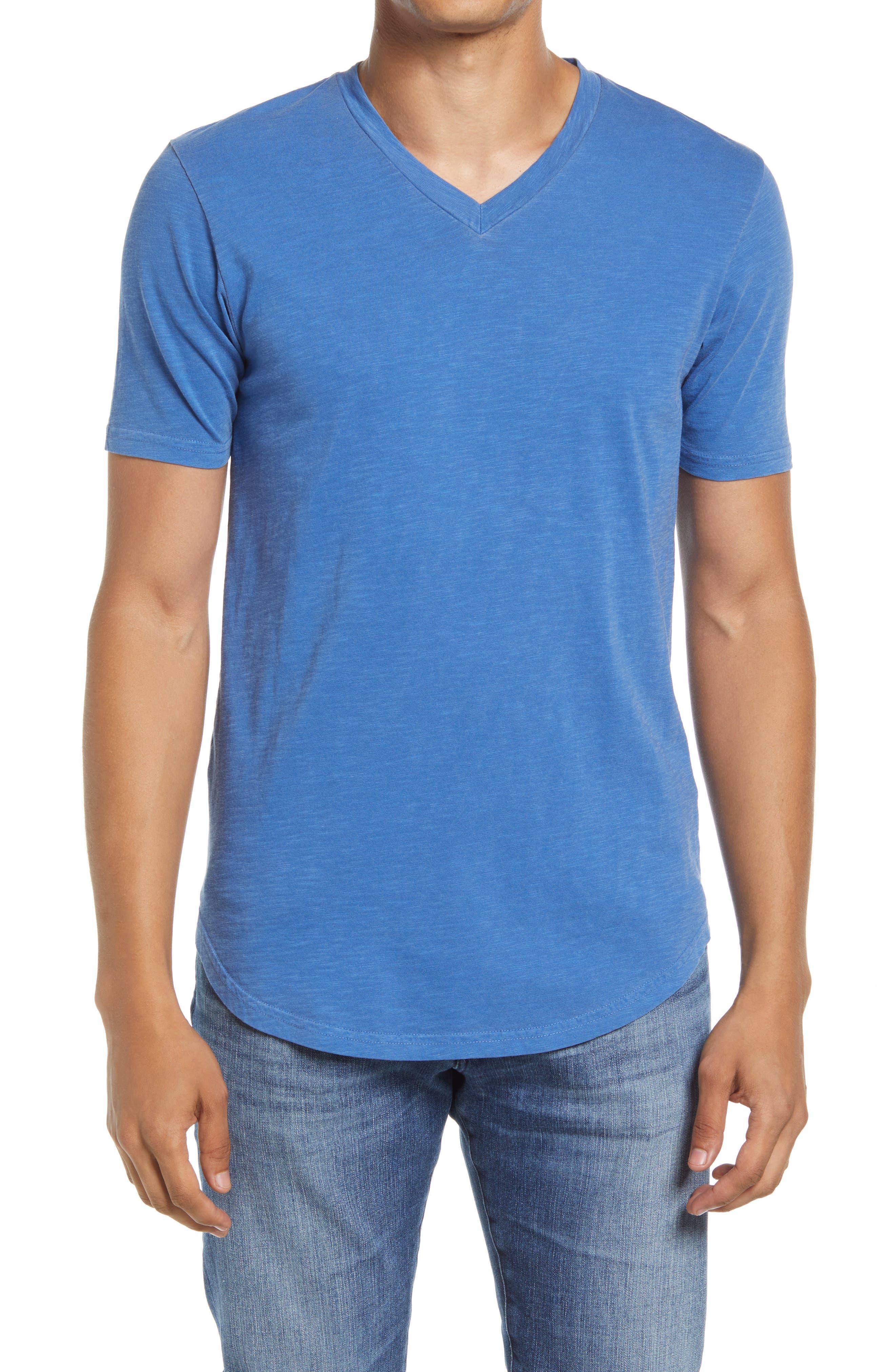 Scallop Short Sleeve V-Neck T-Shirt