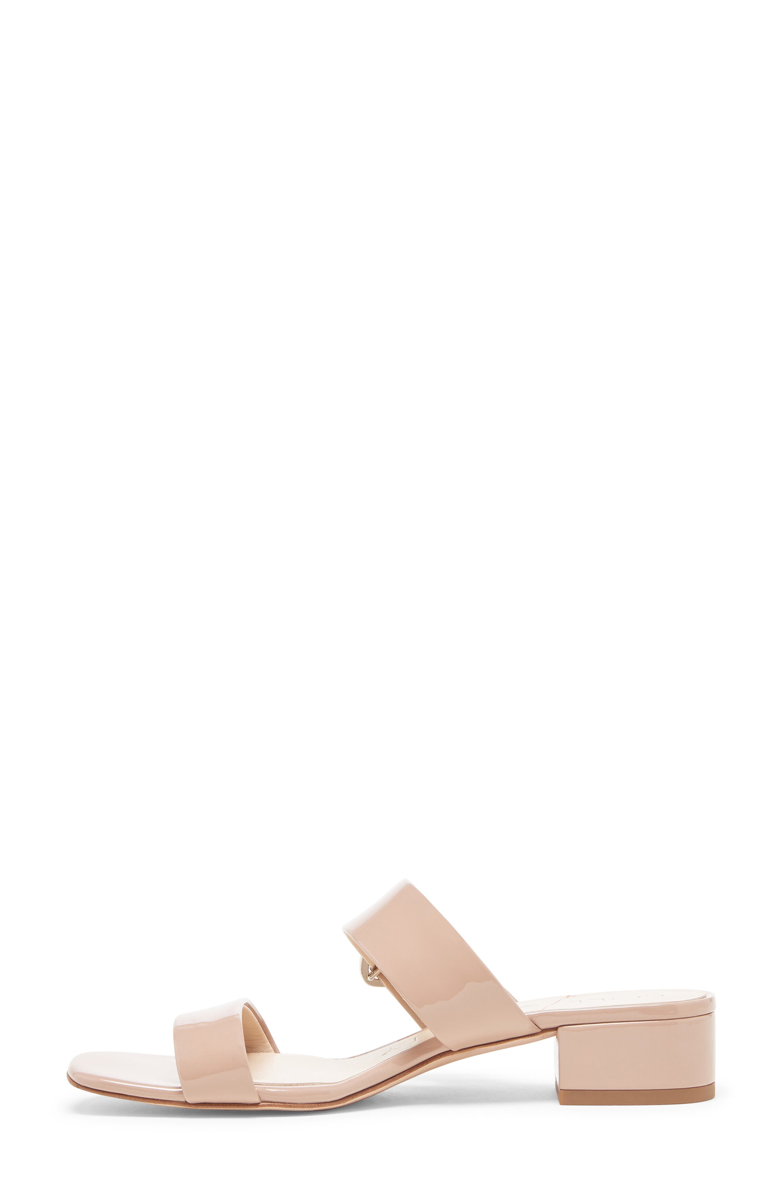,                             Emberlise Slide Sandal,                             Alternate thumbnail 8, color,                             NUDE FAUX PATENT LEATHER