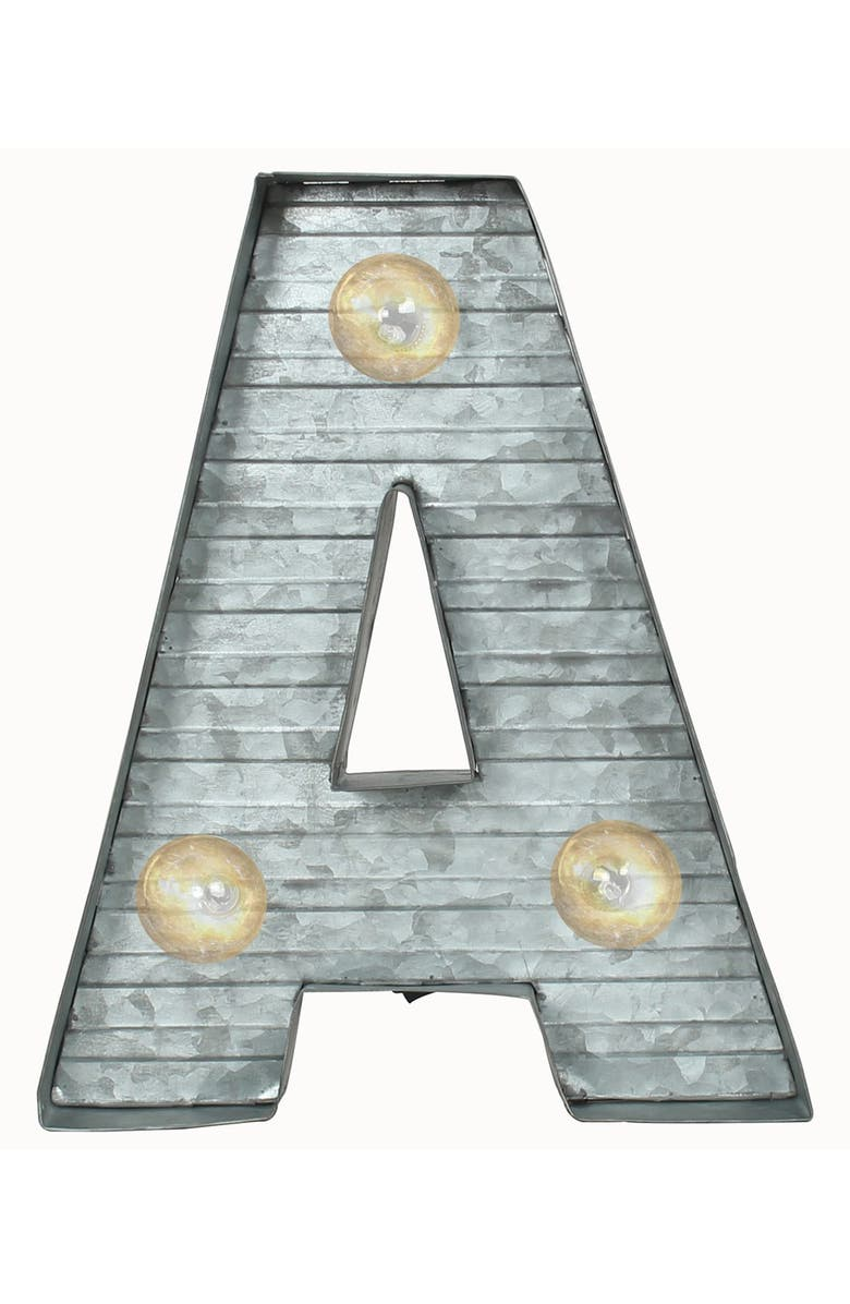 CRYSTAL ART GALLERY LED Metal Marquee Letter Light, Main, color, 040