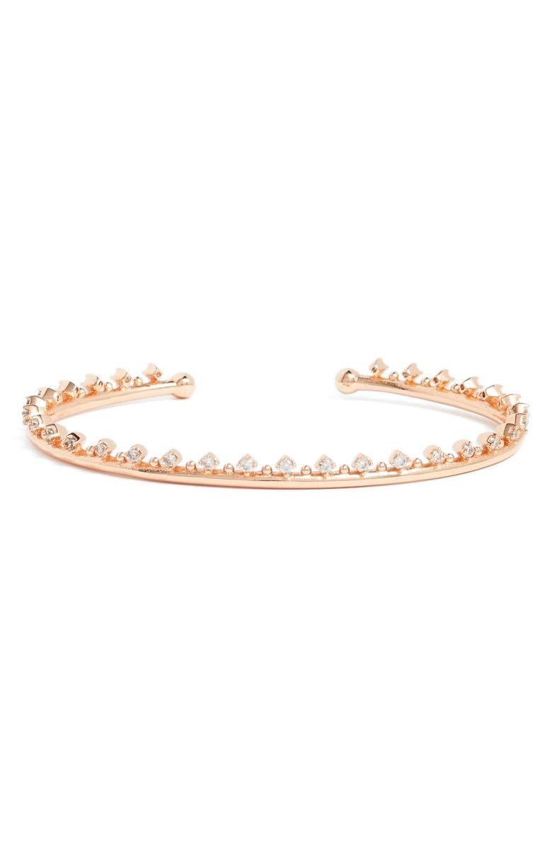 KENDRA SCOTT Codi Crystal Cuff Bracelet, Main, color, ROSE GOLD