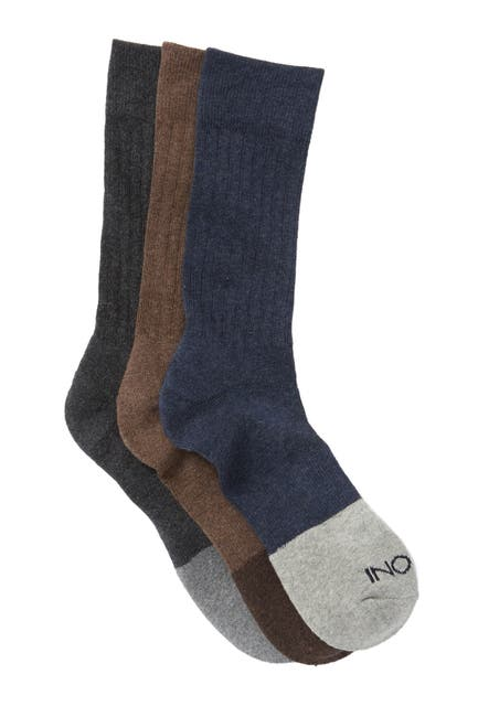 Image of BOCONI Heather Color Block Crew Socks - Pack of 3