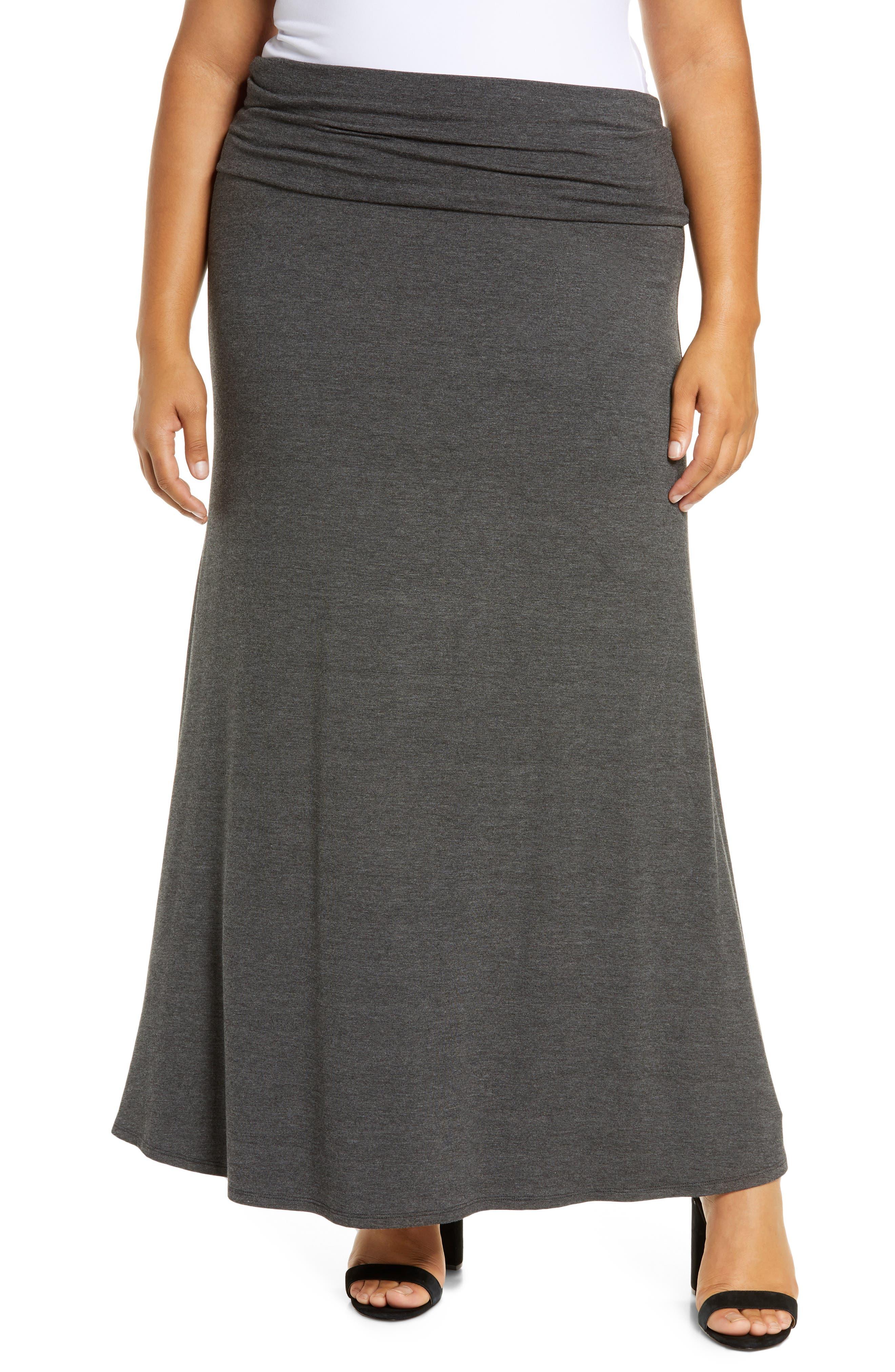 Fold Over Maxi Skirt