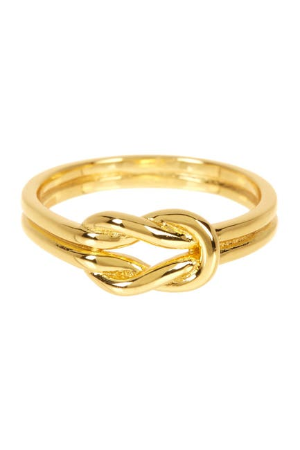 Image of Sterling Forever 14K Yellow Gold Vermeil Double Love Knot Ring
