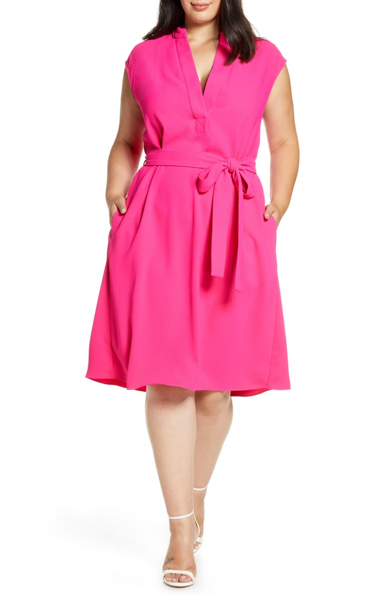 RACHEL ROY COLLECTION Sleeveless Fit & Flare Dress, Main, color, PASSION PINK