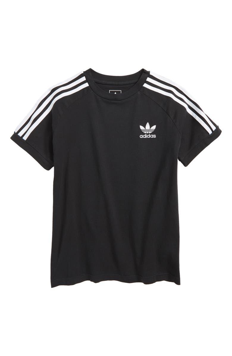 ADIDAS ORIGINALS California T-Shirt, Main, color, BLACK/ BLACK/ WHITE