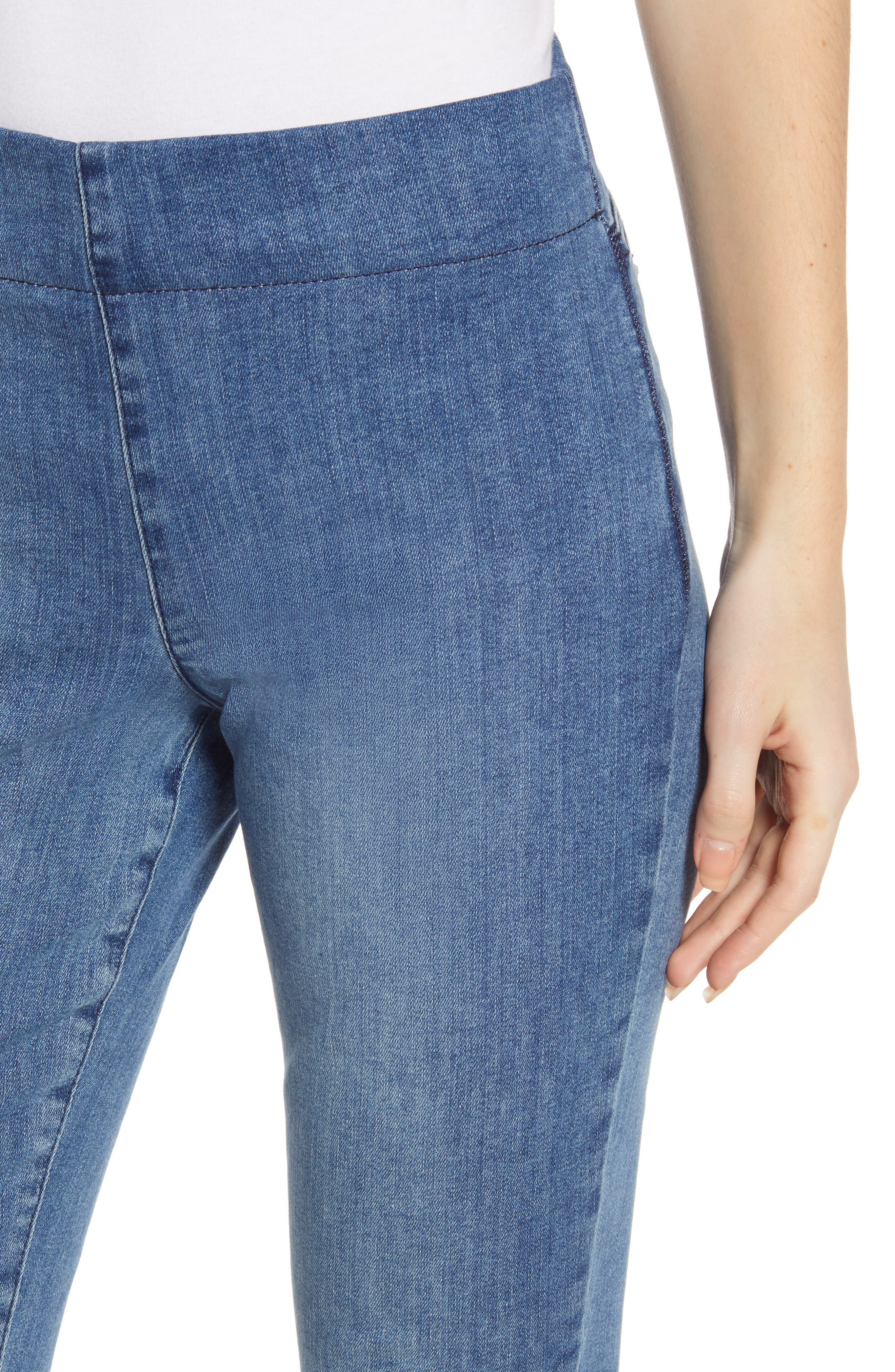 ,                             Alina Pull-On Ankle Skinny Jeans,                             Alternate thumbnail 5, color,                             AQUINO