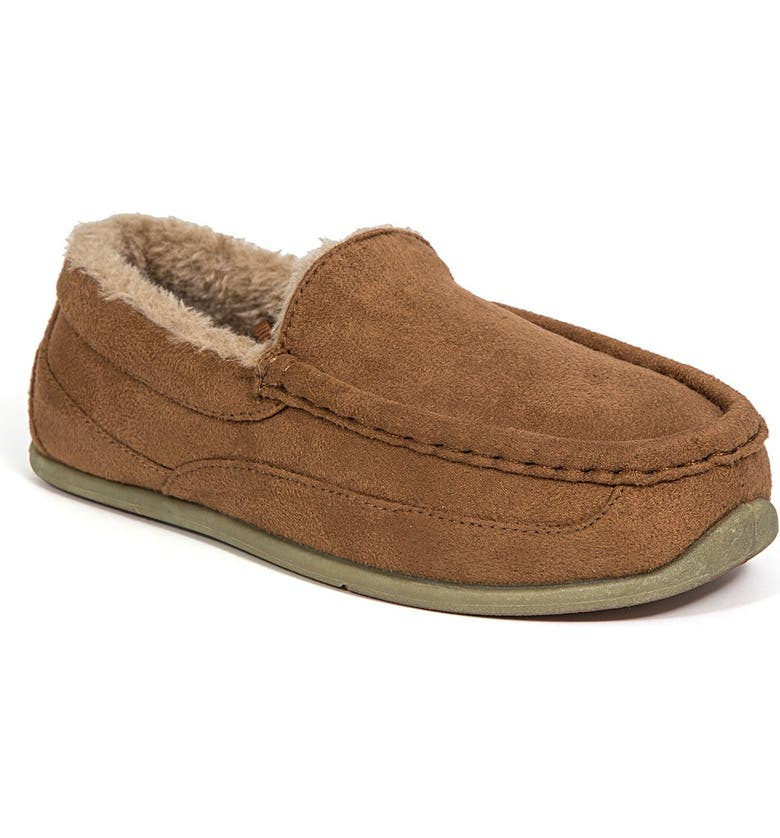 DEER STAGS Slipperooz Lil' Nordic Faux Fur Lined Slipper, Main, color, CHESTNUT