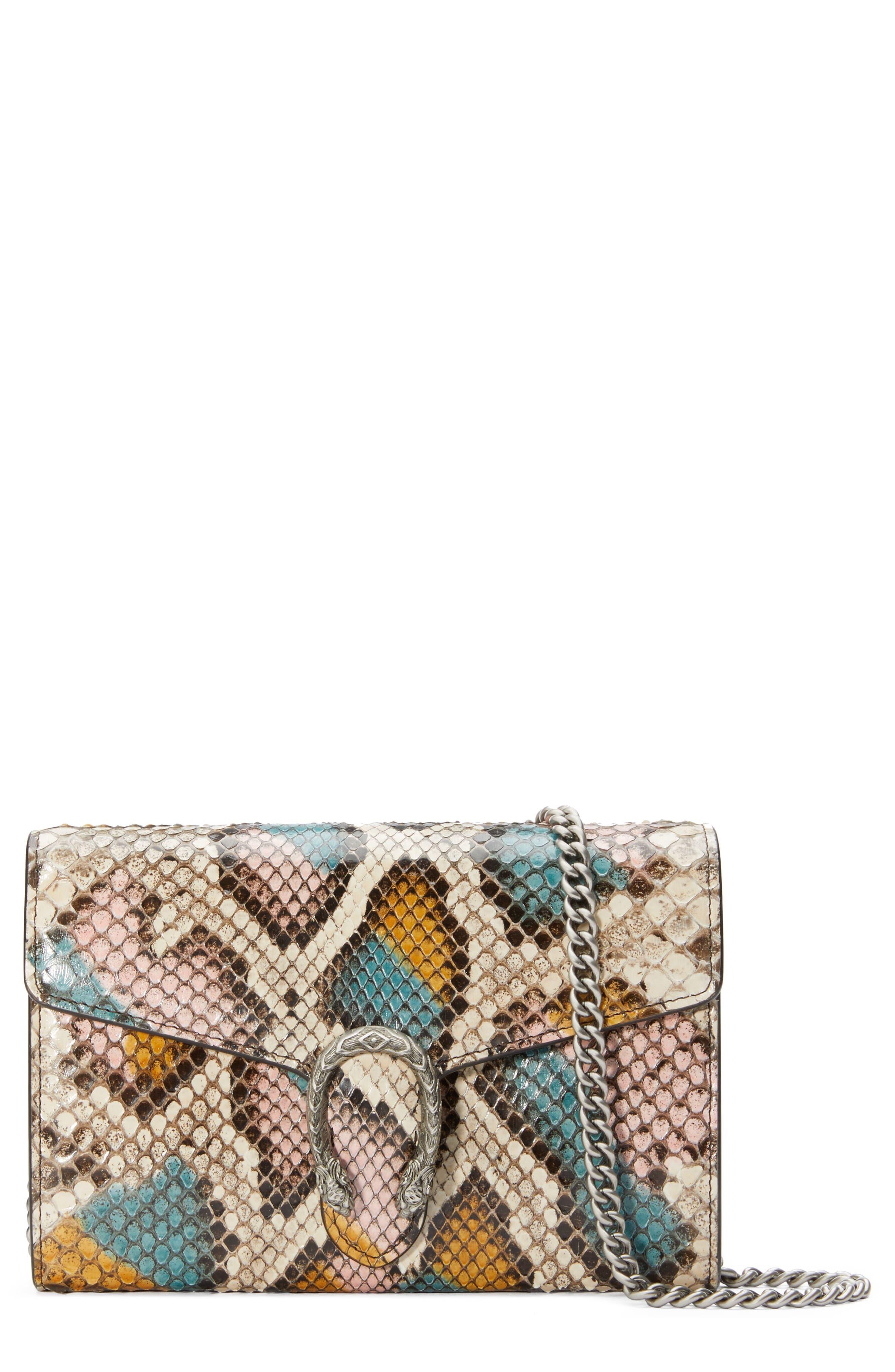 Gucci Clutch Dionysus Genuine Python Clutch