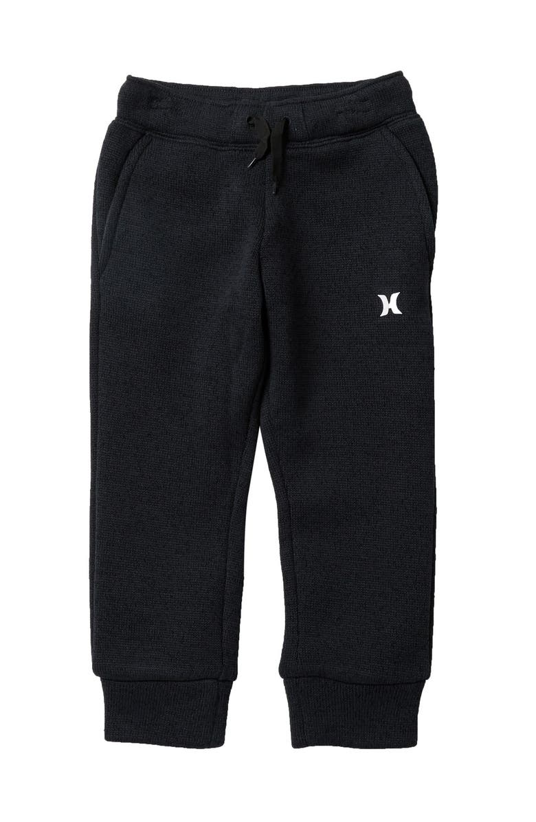 HURLEY Sweater Knit Fleece Pants, Main, color, GUNPOWDER