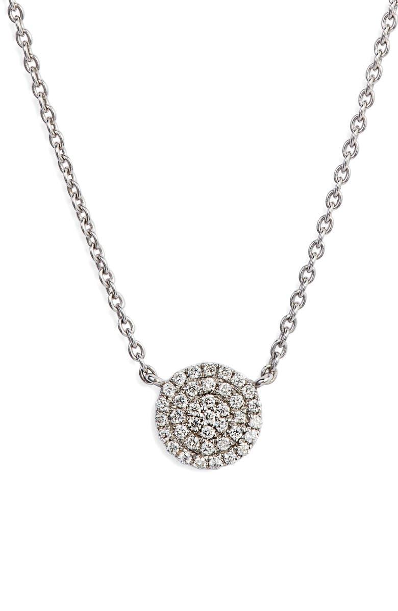 BONY LEVY Prism Pavé Pendant Necklace, Main, color, WHITE GOLD/ DIA