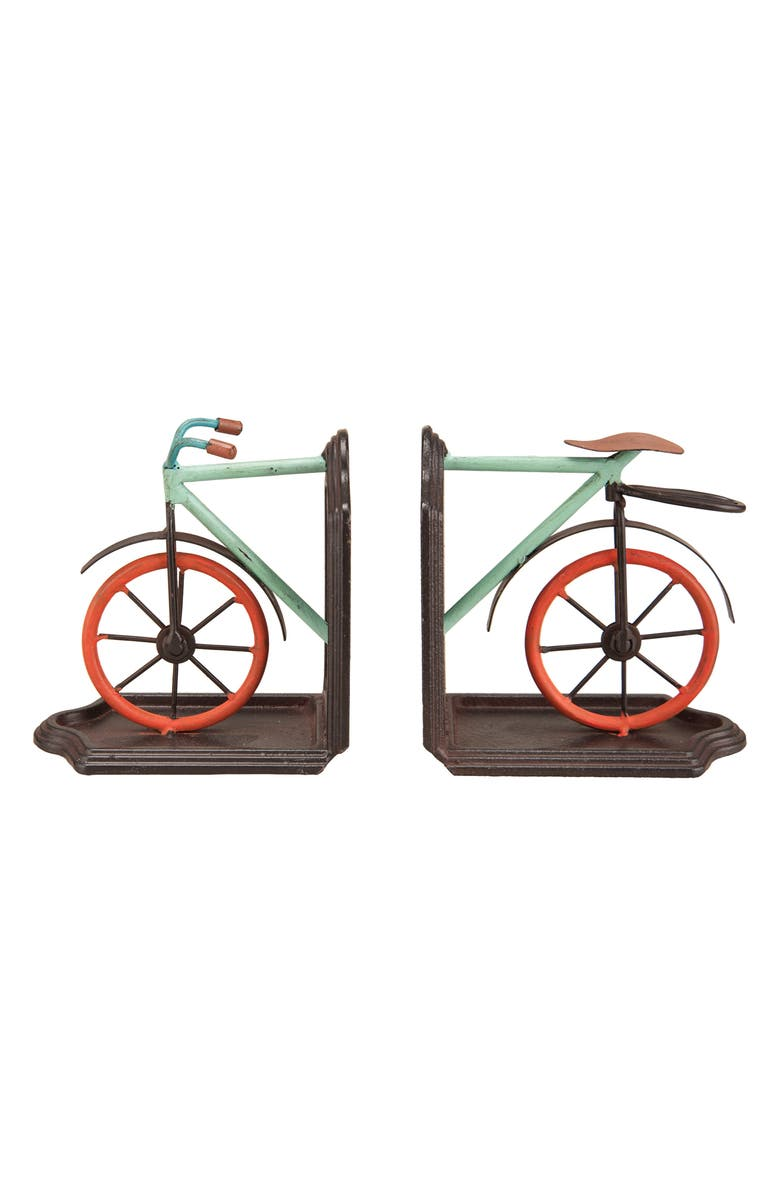 FORESIDE Set of 2 Bike Bookends, Main, color, METAL