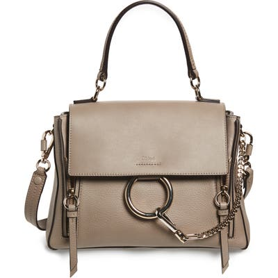 Chloe Small Faye Day Leather Shoulder Bag - Grey