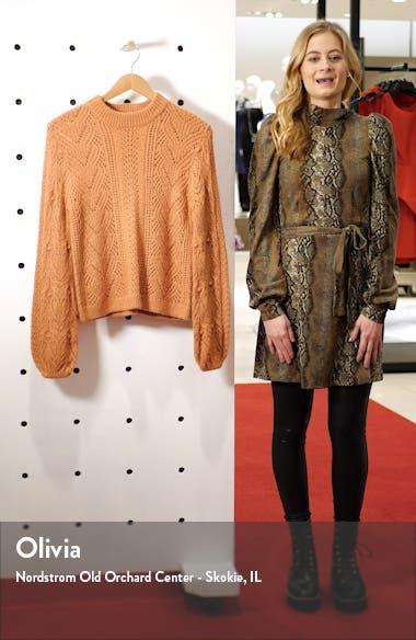 Cozy Pointelle Blouson Sleeve Sweater, sales video thumbnail