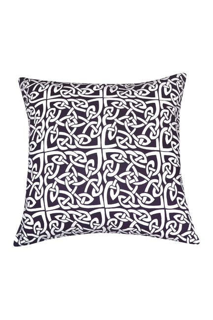 """Image of DIVINE HOME Purple Rope Medallion Throw Pillow - 20""""x20"""""""