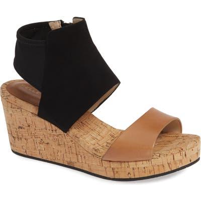 Pelle Moda Katt Wedge Sandal, Brown