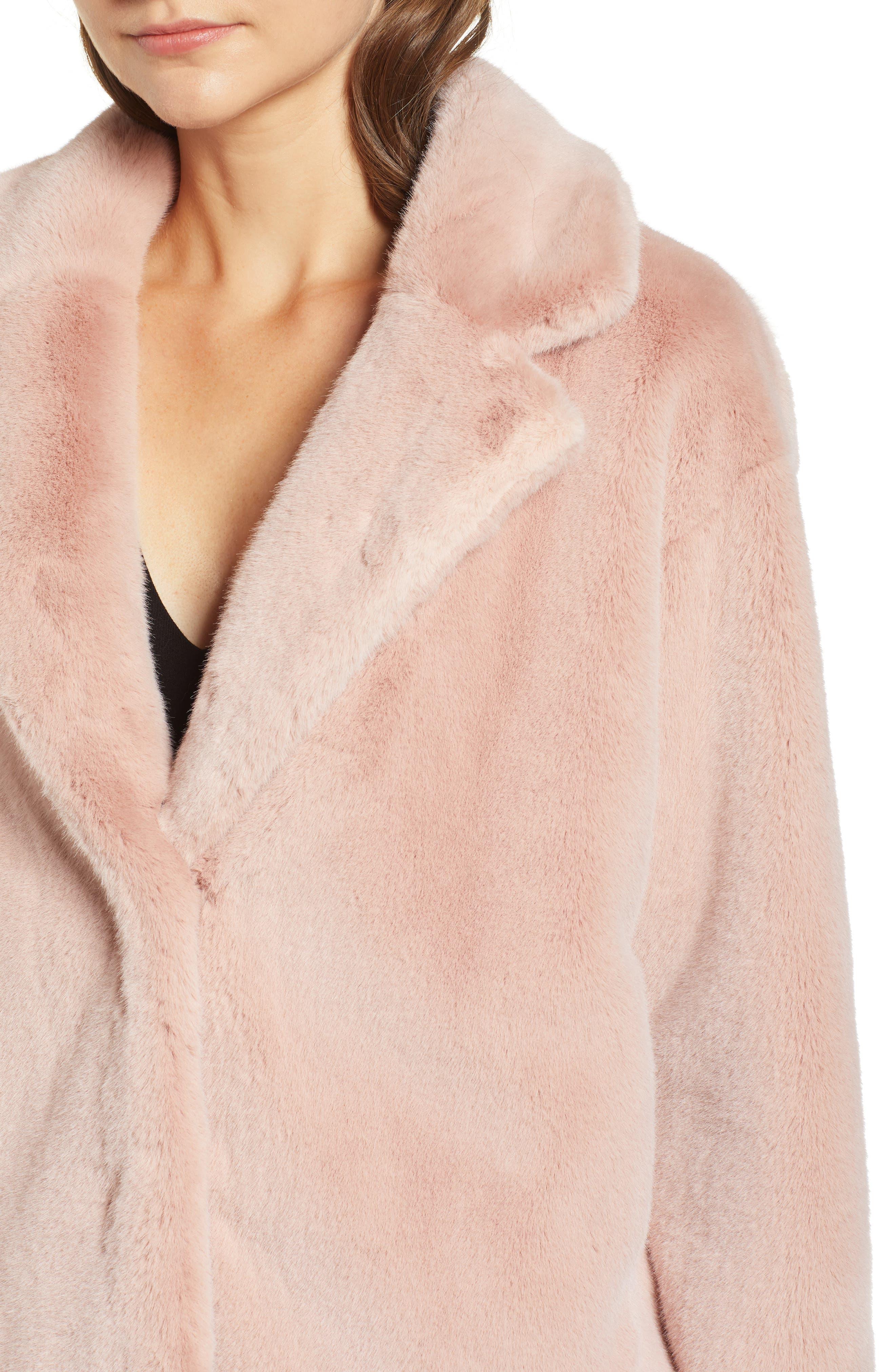 ,                             Luna Faux Fur Jacket,                             Alternate thumbnail 5, color,                             650