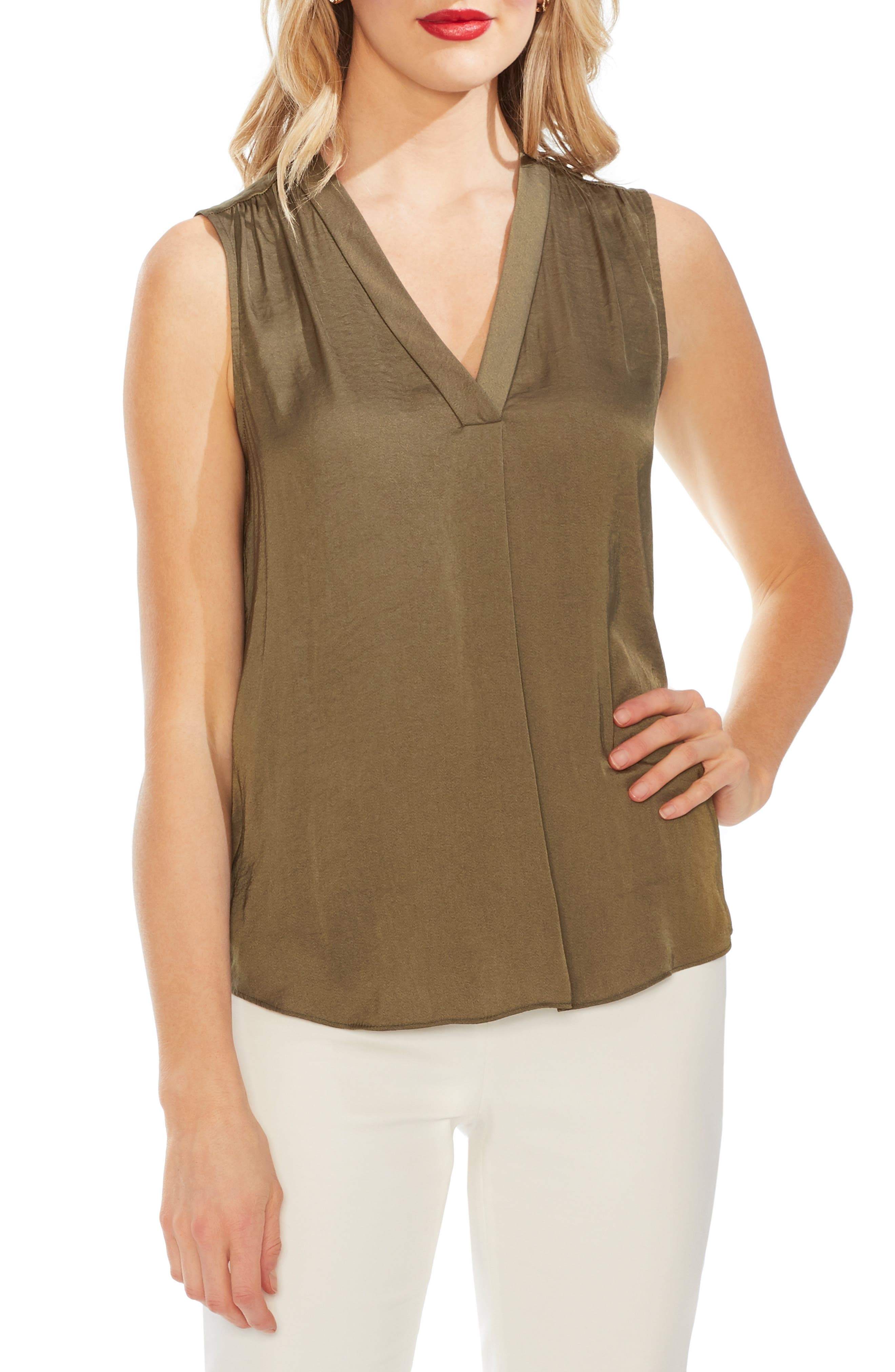 ,                             Rumpled Satin Blouse,                             Main thumbnail 6, color,                             344