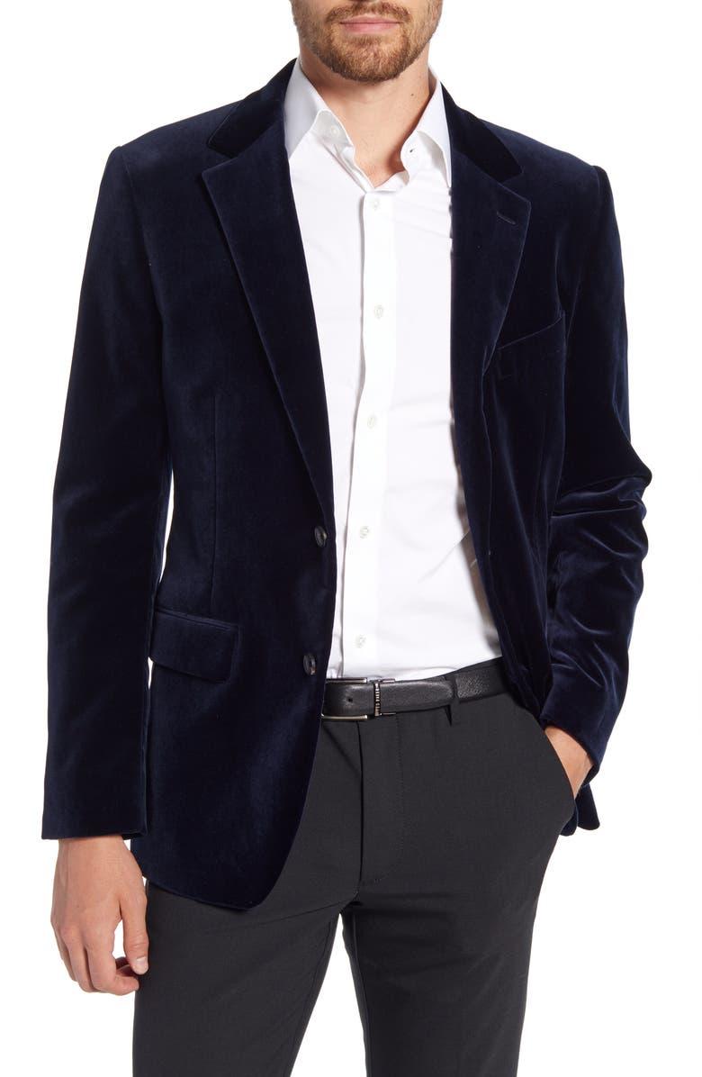 BONOBOS Jetsetter Slim Fit Velveteen Blazer, Main, color, 400