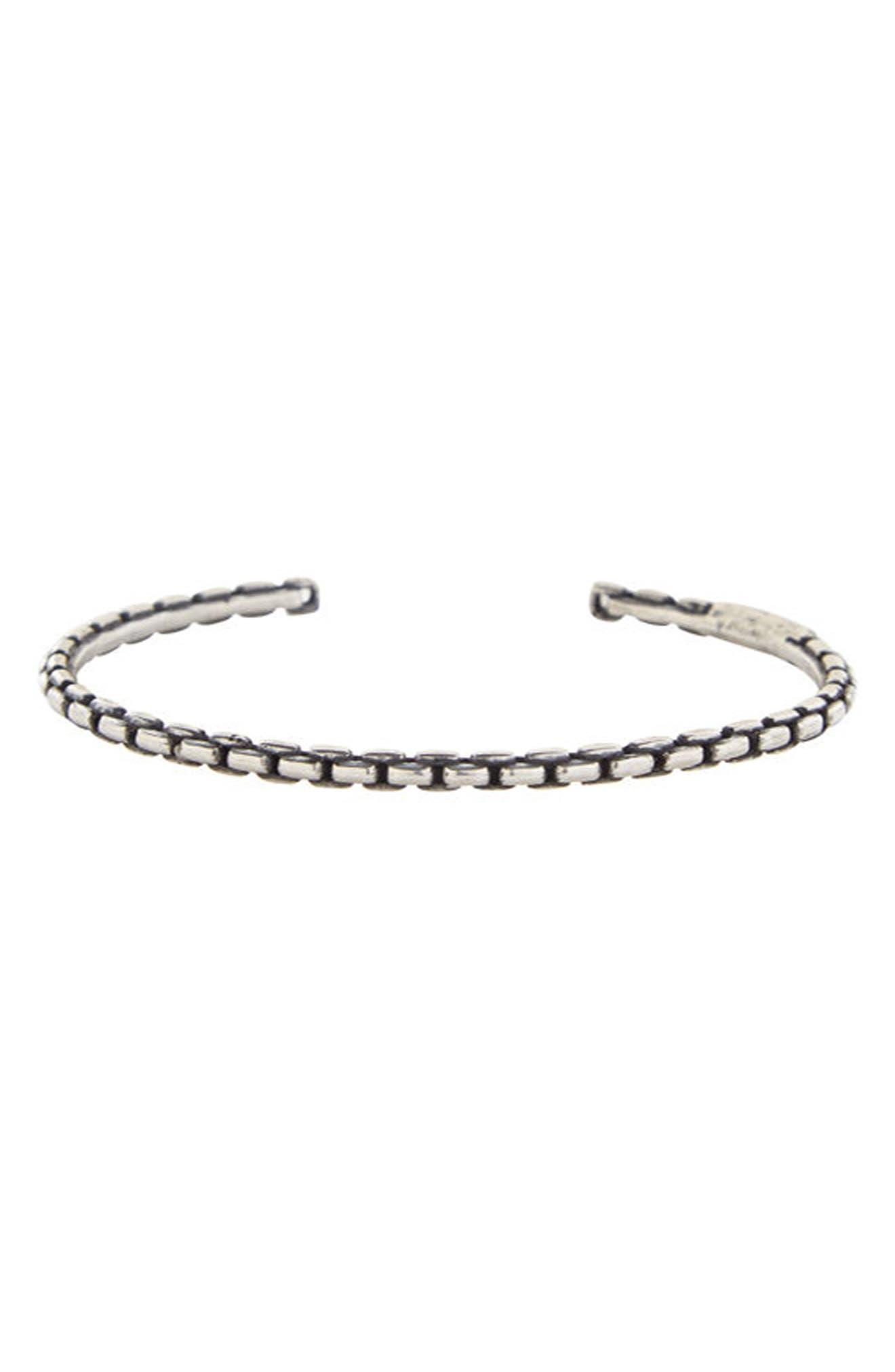 Box Chain Cuff Bracelet