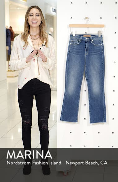 The Callie High Waist Crop Flare Jeans, sales video thumbnail