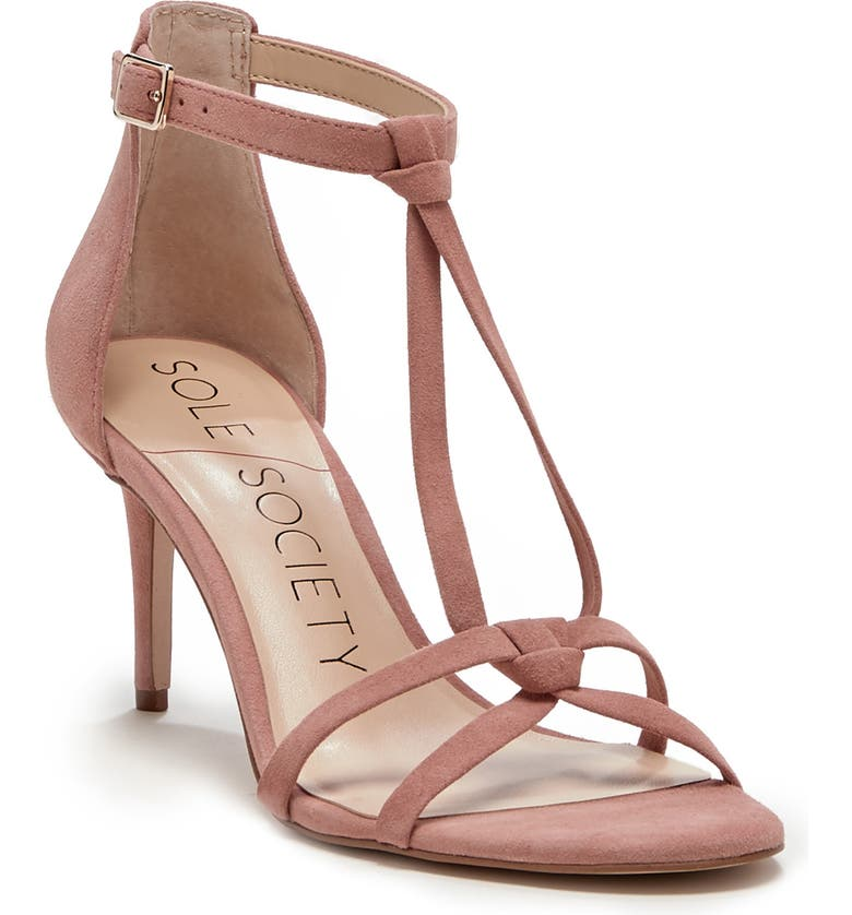 SOLE SOCIETY Ambeleen Sandal, Main, color, ROSE BUD LEATHER