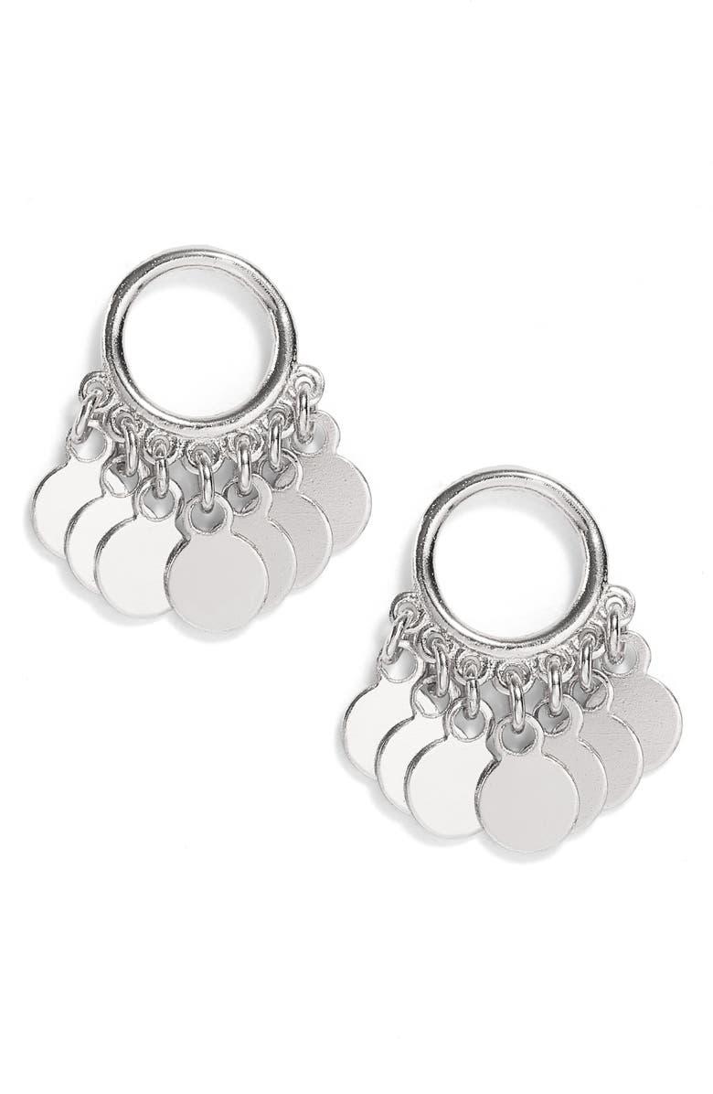 ARGENTO VIVO Disc Drop Earrings, Main, color, SILVER