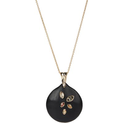 Alexis Bittar Navette Crystal Disc Necklace