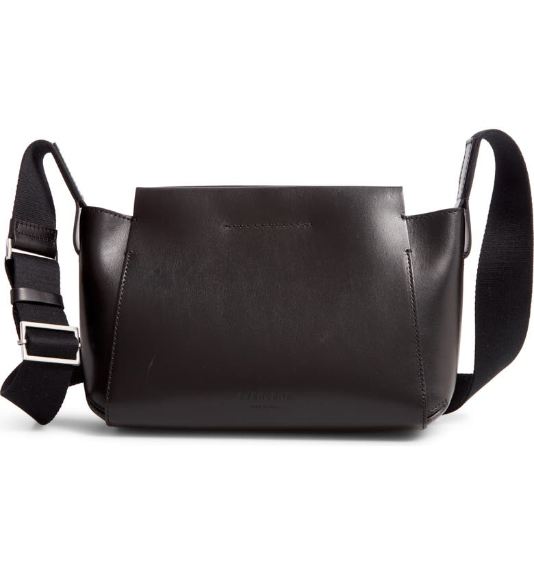 EVERLANE Mini The Form Leather Crossbody Bag, Main, color, BLACK