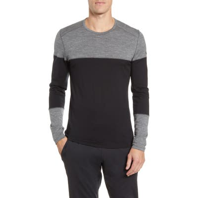 Icebreaker 200 Oasis Deluxe Long Sleeve Merino Wool Base Layer T-Shirt, Black