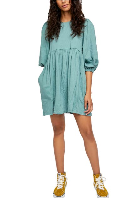 Free People GET OBSESSED BABYDOLL TUNIC DRESS