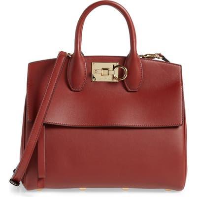 Salvatore Ferragamo The Studio Piccolo Leather Top Handle Bag - Red