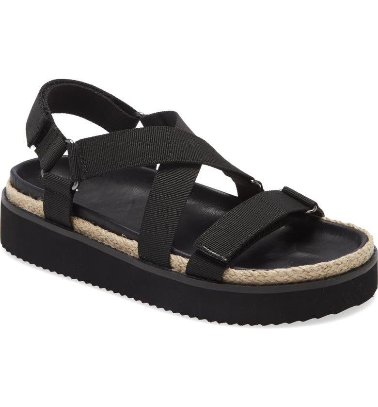 BP. Gage Sandal, Main, color, BLACK FABRIC