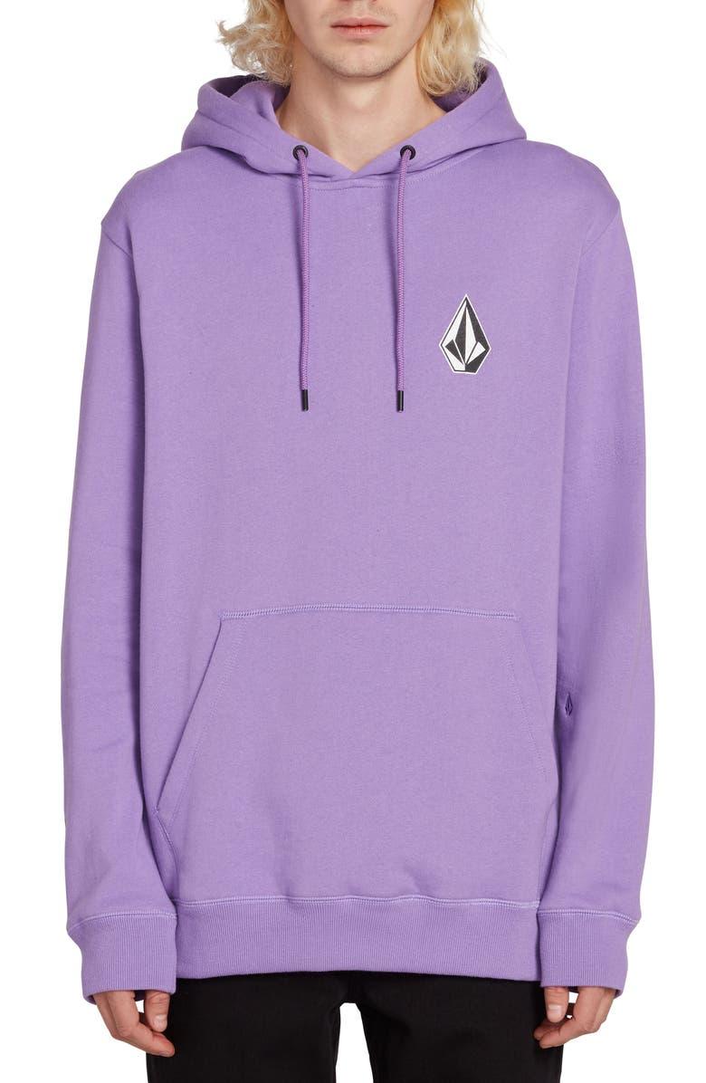 VOLCOM Deadly Stones Hooded Sweatshirt, Main, color, LAVENDER