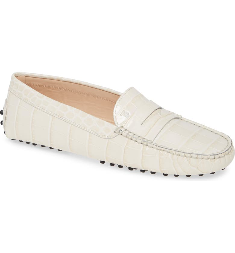 TOD'S Gommini Driving Moccasin, Main, color, MOUSSE