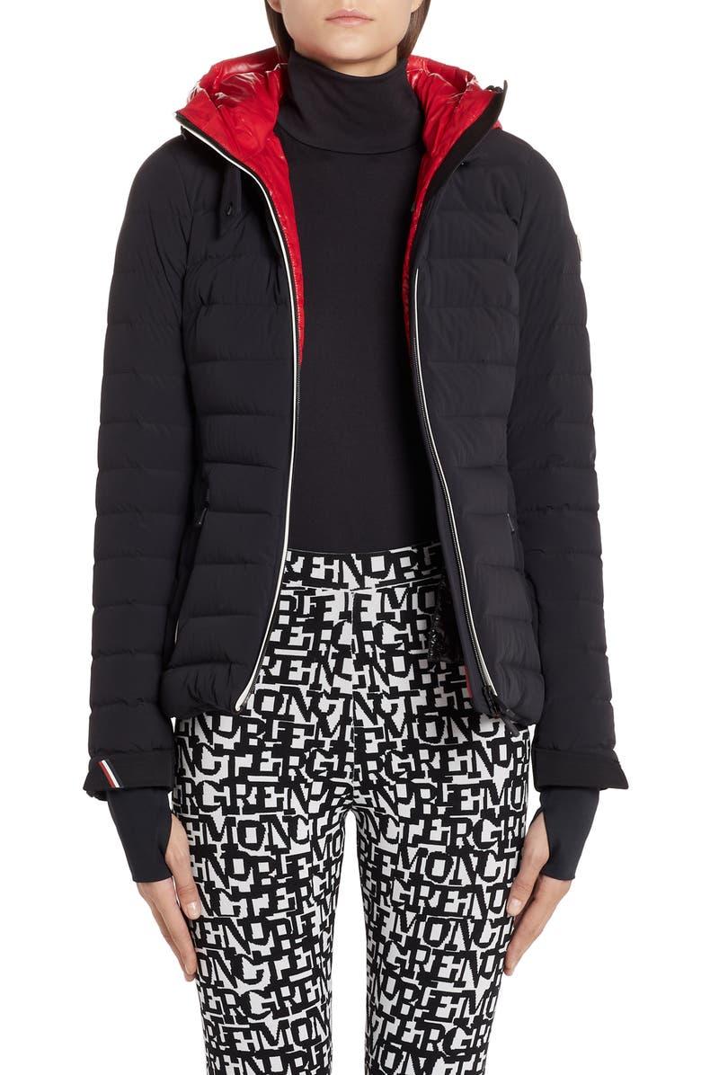 MONCLER Bruche Belted Down Puffer Ski Jacket, Main, color, BLACK
