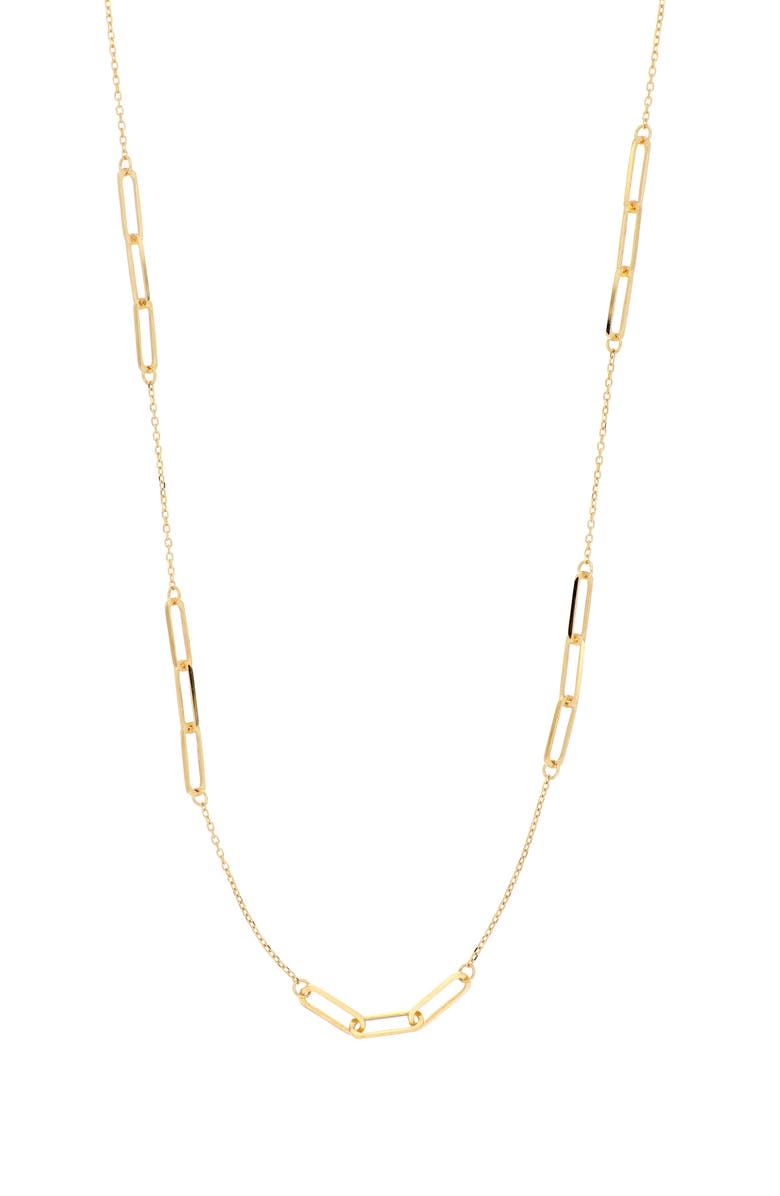 BONY LEVY 14K Gold Station Necklace, Main, color, YELLOW GOLD