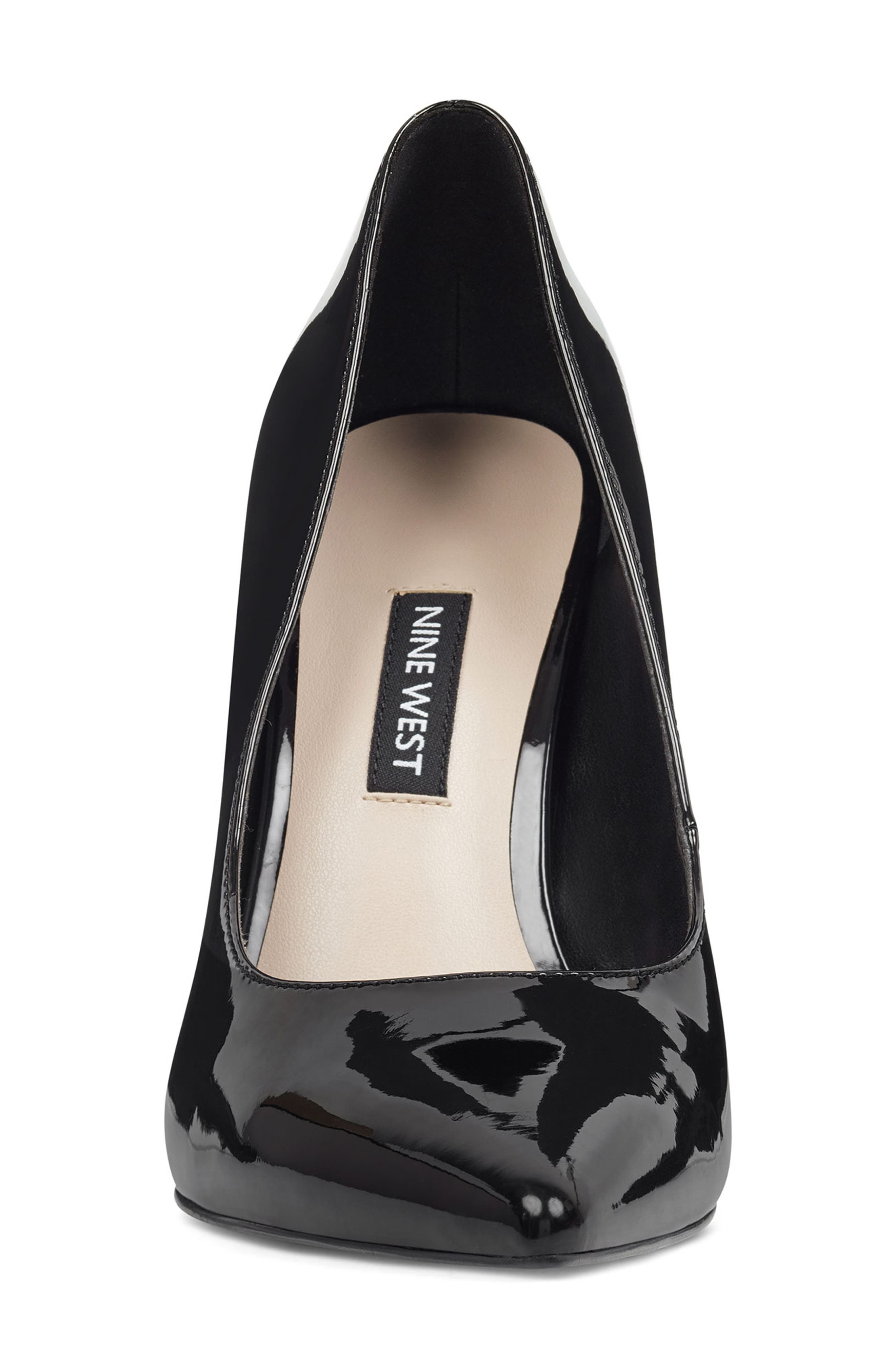 ,                             'Tatiana' Pointy Toe Pump,                             Alternate thumbnail 3, color,                             BLACK PATENT LEATHER