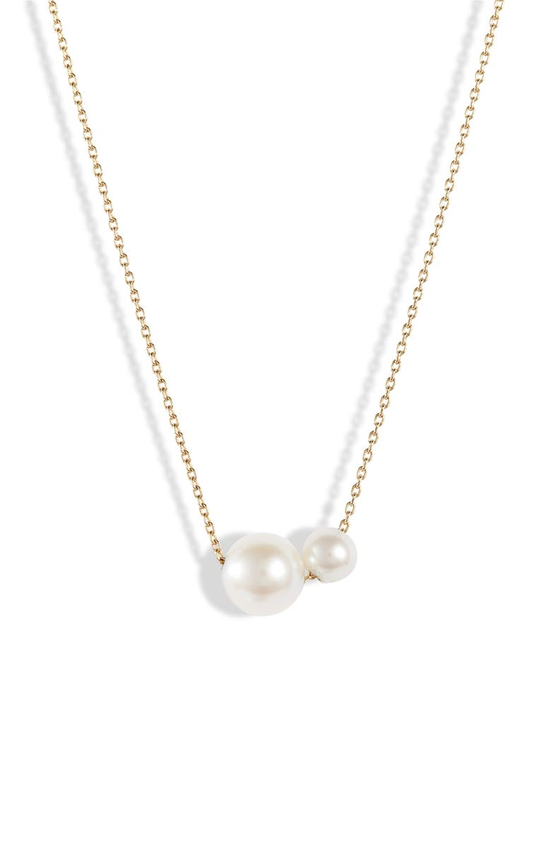 POPPY FINCH Double Pearl Necklace, Main, color, 710