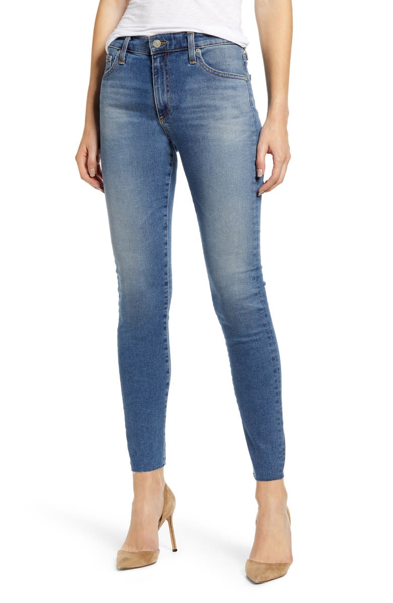 AG The Farrah High Waist Ankle Skinny Jeans, Main, color, 13 YEARS FLOWING