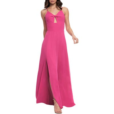 Dress The Population Cambria Tie Bodice Evening Dress, Pink