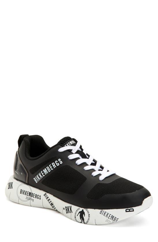 Bikkembergs Men's Flavio Mesh Sneakers In Black/ Black